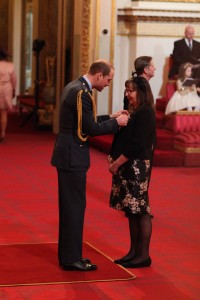 Mrs Anne Wilson from Sheffield is made an MBE (Member of the Order of the British Empire) by the Duke of Cambridge at Buckingham Palace. PRESS ASSOCIATION Photo. Picture date: Friday March 11, 2016. Photo credit should read: Yui Mok/PA Wire